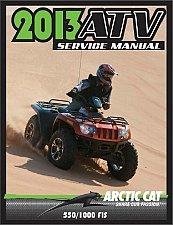 Buy 2013 Arctic Cat 550 / 1000 ATV Service Manual on a CD