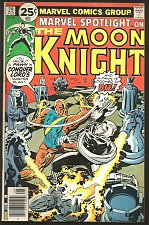 Buy Marvel Spotlight #29 on Moon Knight Marvel Comics .25c Moench Perlin VF