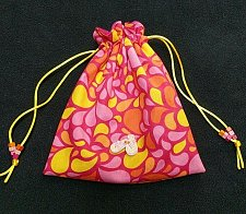Buy Handmade drawstring pouch fully lined, use for tarot, crystals, makeup, etc