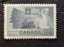 Buy Canada Used stamp 1v #316 - Paper Mill (1952) 20¢