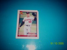 Buy 1991 Topps Traded card of jeff robinson angels #99T mint