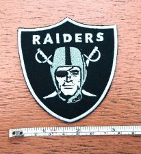 Buy NFL Oakland Raiders Football Logo embroidered iron on patch free shipping