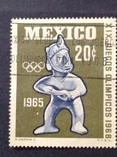 Buy Mexico 1965 1v used stamp mi1192 Tlachtli ball player , clay figure from Jali