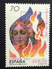 Buy Spain used 1v stamp 1998 EUROPA: Bonfires of Saint John