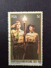 Buy south africa 1 v used stamp 1981 Voortrekker 50th anniversary