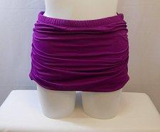 Buy SIZE 16 Women Shirred Swim Skirt SWIM SEXY Solid Siracha Elastic Waist Built In