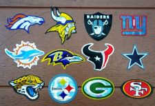Buy NFL TEAM LOGO FOOTBALL IN DOOR DECAL STICKER LEFROY