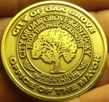 Buy Gem Unc Oak Grove Kentucky War Memorial Walking Trail Medallion~38.5mm~Free Ship