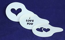 Buy Sewing/Painting- Love Stencil Set -3 pcs-14 mil Mylar Template/Crafts