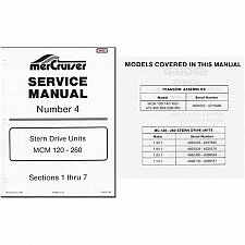 Buy 1978-1982 MerCruiser #4 MCM 120 - 260 Stern Drive Units Service Repair Manual CD