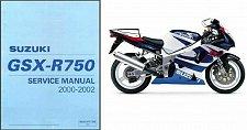Buy 2000-02 Suzuki GSX-R750 Service Repair Manual CD ---- GSXR750 GSXR 750 GSX R