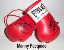 Buy Autographed Mini Boxing Gloves Timothy Bradley V Manny Pacquiao