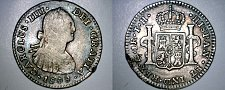Buy 1808/7-Mo TH Spanish Colony Mexico 1 Real World Silver Coin - Charles IIII