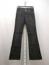 Buy Women Jeans Boot Cut Legs Dark Wash 26X33 Junior Size 1