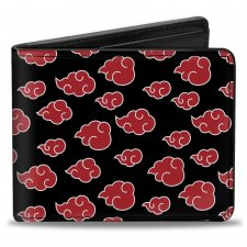 Buy Bi-Fold Wallet Naruto Akatsuki Cloud Symbol Black/White/Red