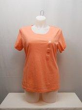 Buy PLUS SIZE 1X Womens Knit Top KAREN SCOTT Solid Coral Short Sleeves Scoop Neck