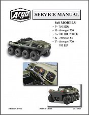 Buy Argo 8x8 HDi HD Avenger Amphibious ATV Service Manual CD - 700 750 P H X S V