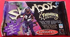 Buy 1998 football pack Fleer Skybox Thunder HOBBY single series Peyton Manning auto?