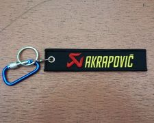 Buy 1 Embroidered Fabric Strap AKRAPOVIC Keychain Keyring Key Holder Tag Motorcycle