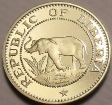 Buy Rare Proof Liberia 1973 5 Cents~Elephant Coin~Only 11,000 Minted~Free Shipping