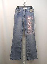 Buy Womens Jeans SIZE 5-6 MILANO MODA Stonewashed Embellished Boot Cut Legs 28X33