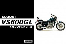 Buy 1995-1996-1997 Suzuki VS 600 GL Intruder ( VS600GL ) Service Manual on a CD