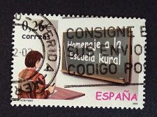 Buy SPAIN 1 Used Stamp Mi 3835 Thematic Homage to the Rural School