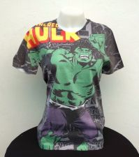 Buy NEW & OFFICIAL Super hero Comics T-Shirts Short Sleeve Jersey Hulk Multi-Color