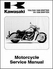 Buy 1999-2005 Kawasaki Vulcan 1500 / VN1500 Drifter Service Repair Manual CD -- VN