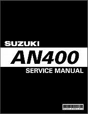 Buy 2003-2006 Suzuki AN400 Burgman 400 Scooter Service Manual on a CD - Skywave