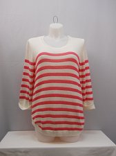 Buy PLUS SIZE 3X Womens Sweater NY COLLECTION Striped Cuffed 3/4 Sleeve Scoop Neck