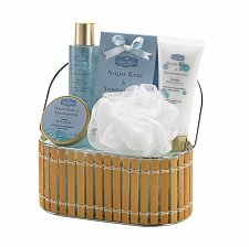 Buy *16026U - Night Rose & Sandalwood Bath Gift Set Handled Basket
