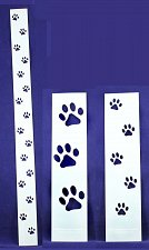 Buy Dog Paw Tracks- 3 Pc Set- Stencils -14 mil Mylar Painting/Crafts/Borders