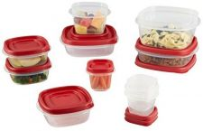 Buy Rubbermaid Easy Find Lid Food Storage Container, 20-Piece Set, Red (1783142)