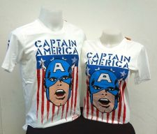 Buy Captain America White Cotton 100% T-Shirt The Avengers Super Hero Marvel *113