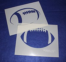 Buy 2 Pc Set -Mylar 14 Mil Large Football Stencils Painting/Crafts/Stencil/Template