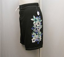 Buy PLUS SIZE 26 Women Swim Gardenia Board Shorts SWIMSUITS FOR ALL Black Floral