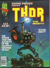 Buy THOR Marvel Preview #10 Marvel Comics BEAUTY B&W 1977 split w/ Hercules MAGAZINE