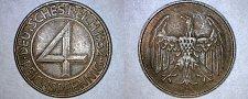 Buy 1932-D German 4 Reichspfennig World Coin - Germany Weimar Republic