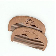 Buy Wooden Beard and Mustache Comb All Natural Wood Men's Facial Hair