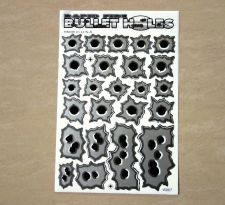 Buy 1x Bullet Hole Sticker Silver Bullet Fire Gun Hole Decal Sticker ATV Racing bike