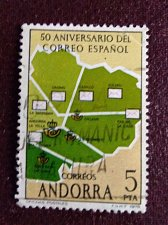 Buy Andorra Spanish 1978 Mi111 1V USED stamp Spanish Post