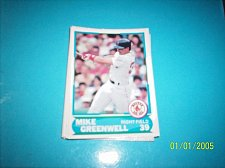 Buy 1988 Score Young Superstars series 1 baseball MIKE GREENWELL #24 FREE SHIP