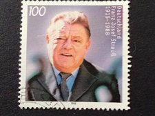 Buy Germany 1 v used stamp 1995 Michel 1818 Birth Anniv. of Franz Joseph Strauss