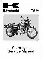 Buy 2011-2012-2013-2014-2015 Kawasaki W800 Service Manual on a CD