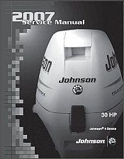 Buy 2007 and up Johnson 30 HP Series 4-Stroke Outboard Motors Service Manual on a CD