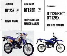 Buy 1988-2007 Yamaha DT125R / DT125X Service Repair Workshop Manual CD -- DT 125 R DT125