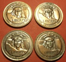 Buy Lot of 4 Medallions Made Of Statue Of Liberty Materials~Scarce~Free Shipping