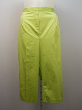 Buy PLUS SIZE 22W Women Cropped Capri ALFRED DUNNER Lime Green Elastic Waistband