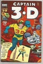 Buy CAPTAIN 3.D #1 HARVEY COMICS --Vol.1 #1 Glasses still attached 1953